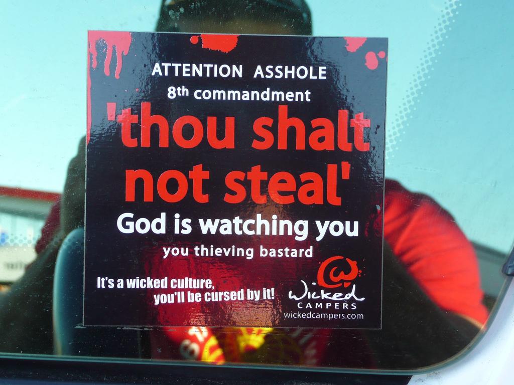 File:Thou shalt not steal.jpg - Wikimedia Commons