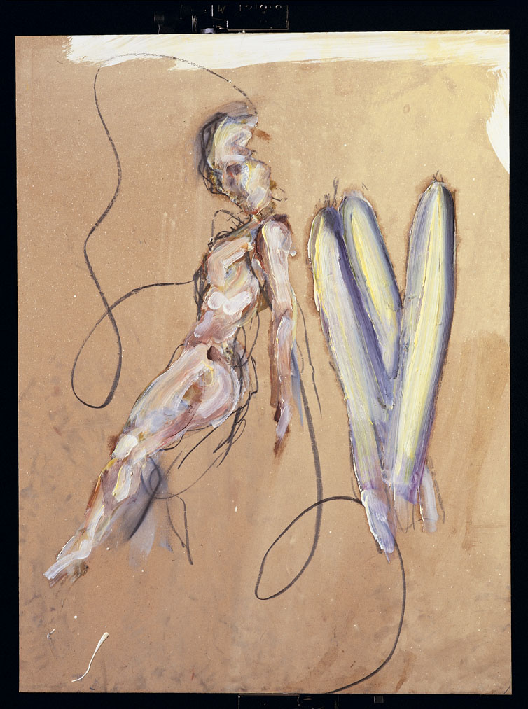 Two nudes (abstract), by Frans Kannik, 1995.jpg