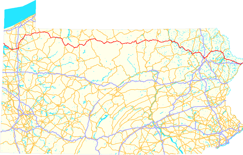 FileUS Route PA Mappng Wikimedia Commons - Us route 6 map