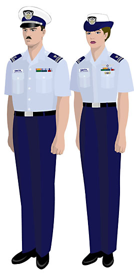 Coast Guard Tropical Blue Uniform 37