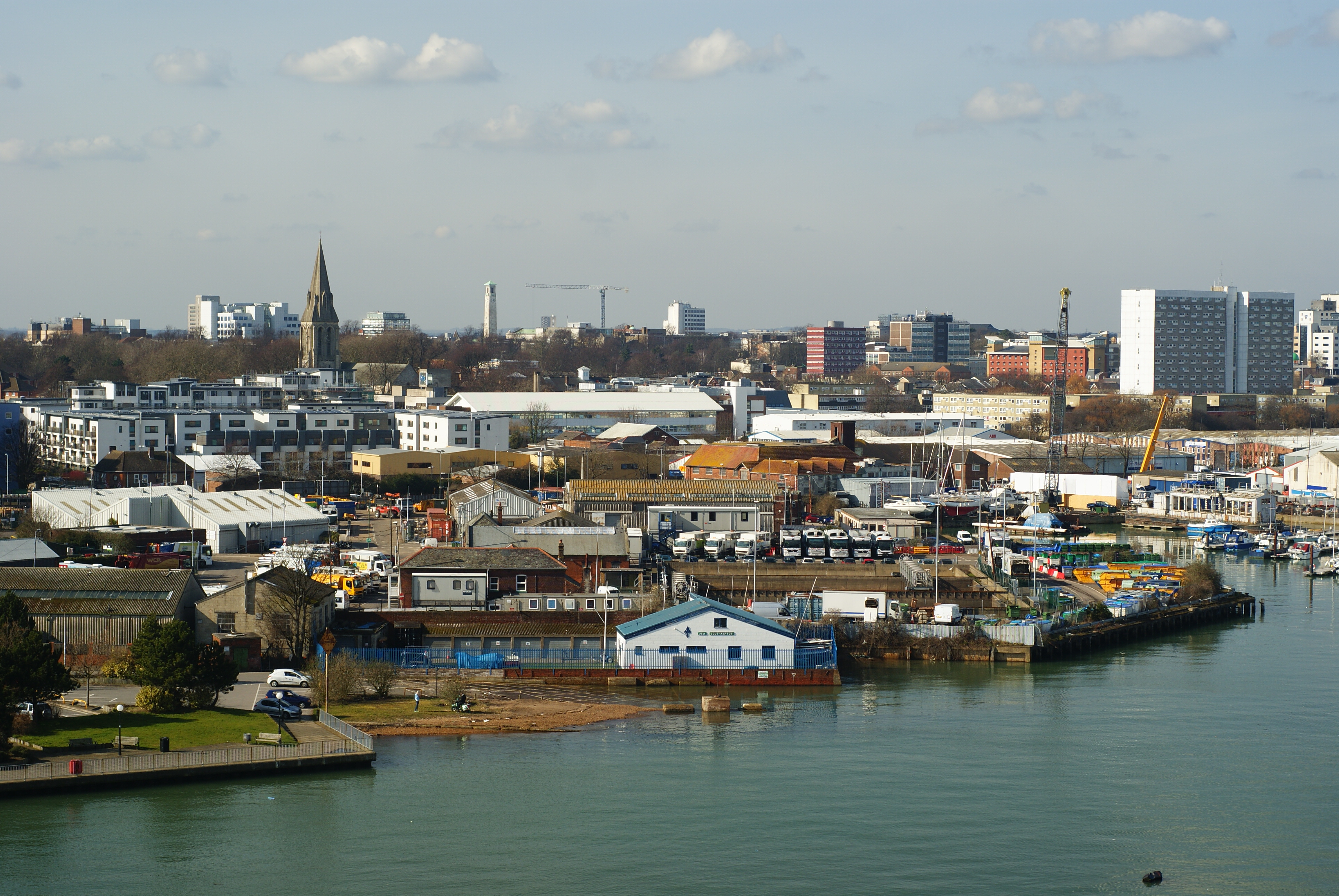 File View From The Itchen Bridge Southampton 8