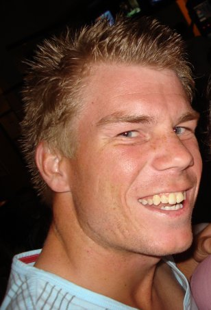 English: Australian cricketer David Warner