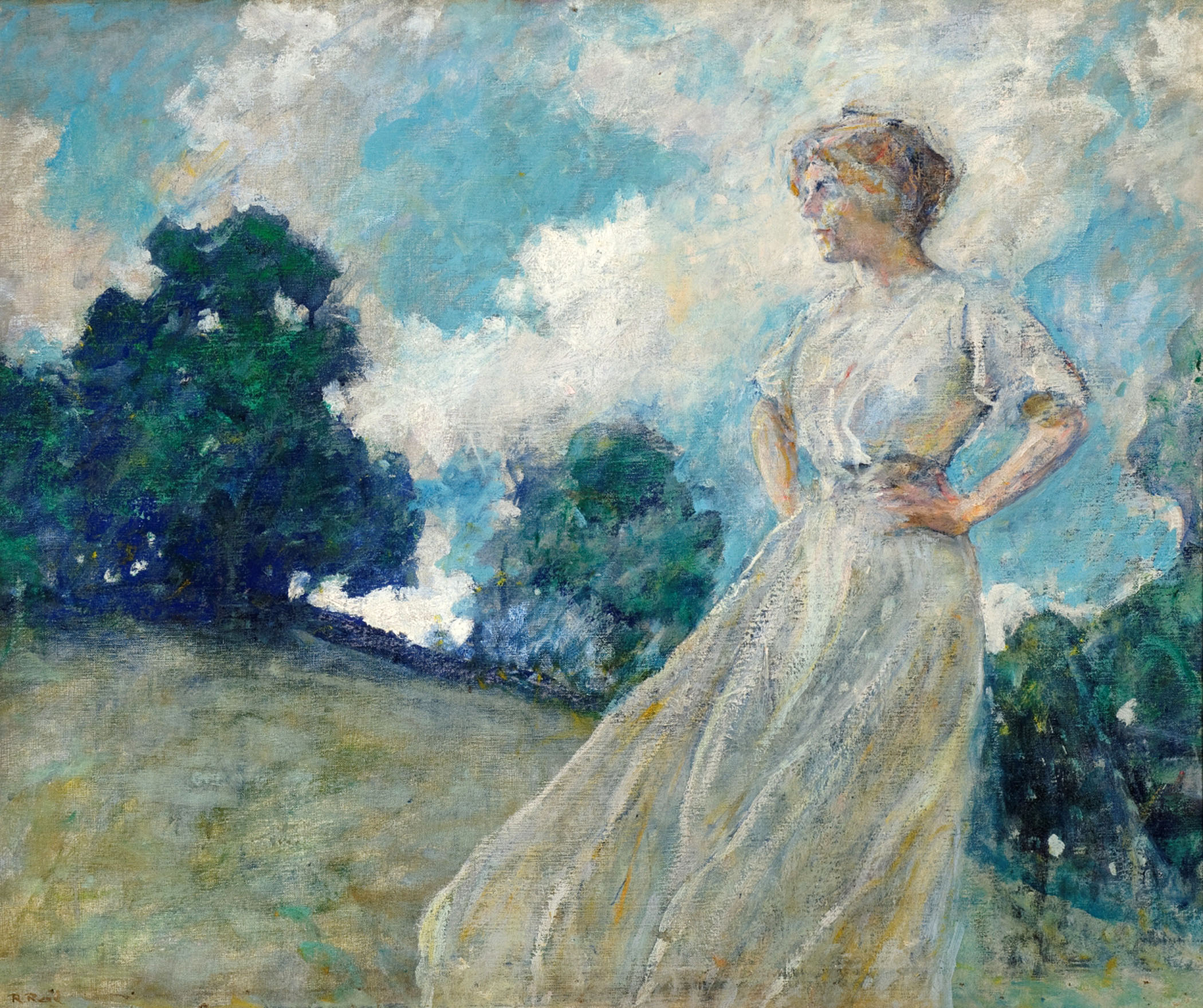 File:'Summer Breezes' by Robert Lewis Reid, Reading Public