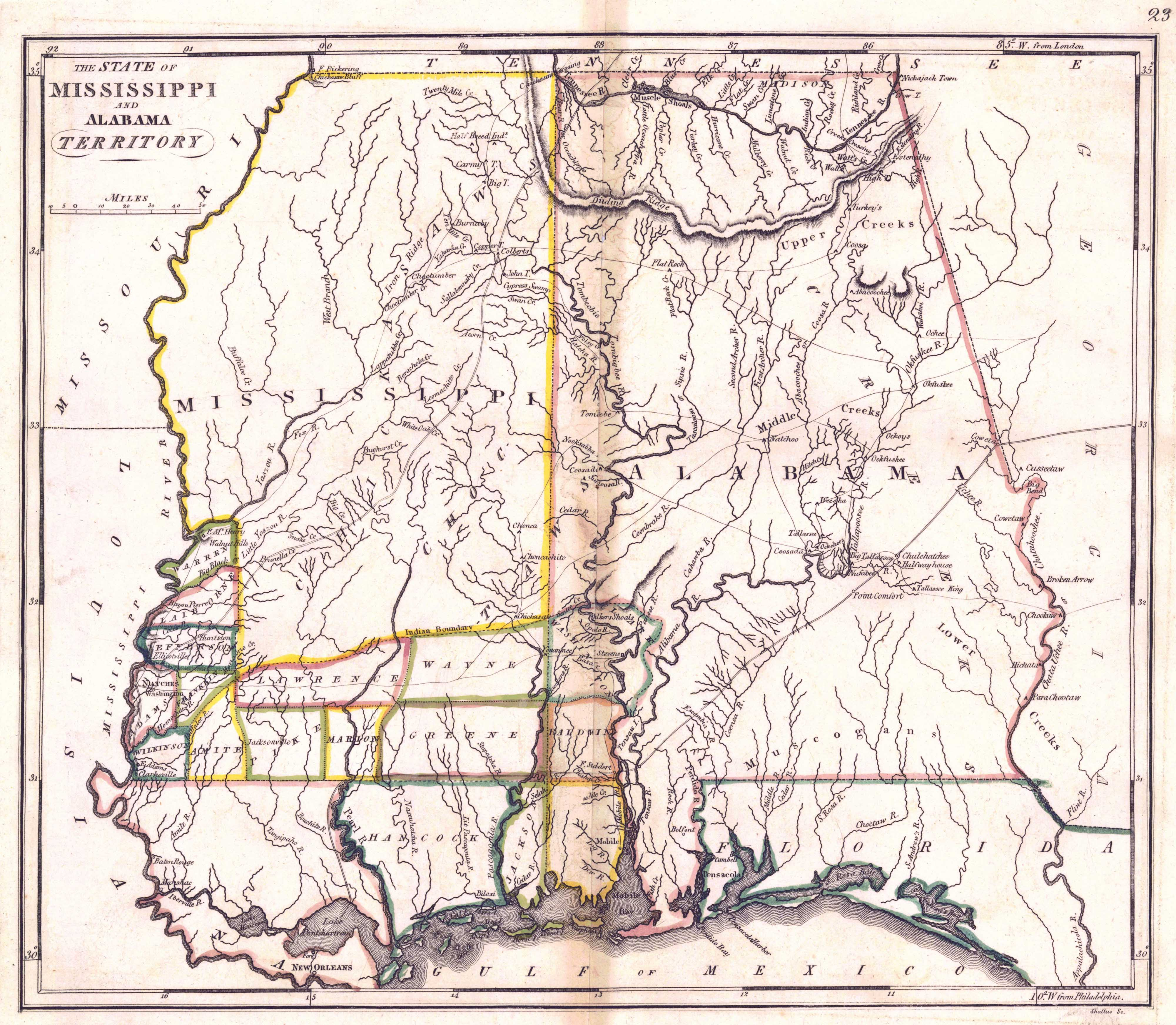 File Map Of Mississippi And Alabamajpeg Wikimedia Commons - Map of mississippi