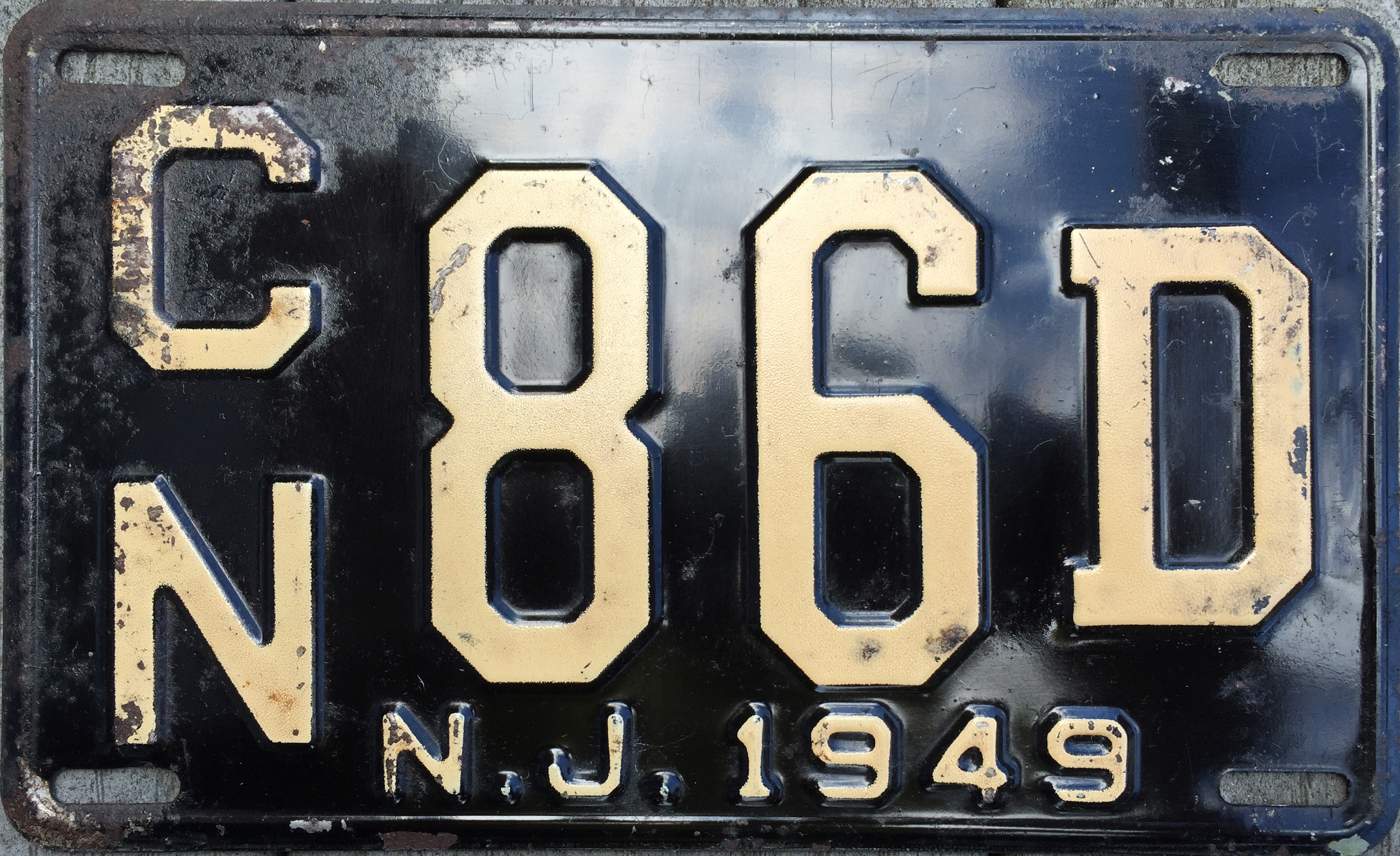 File:1949 New Jersey license plate.JPG - Wikimedia Commons