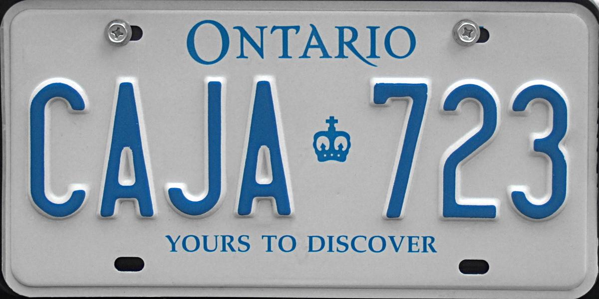 File 1997 Ontario License Plate Caja 723 Jpg Wikipedia