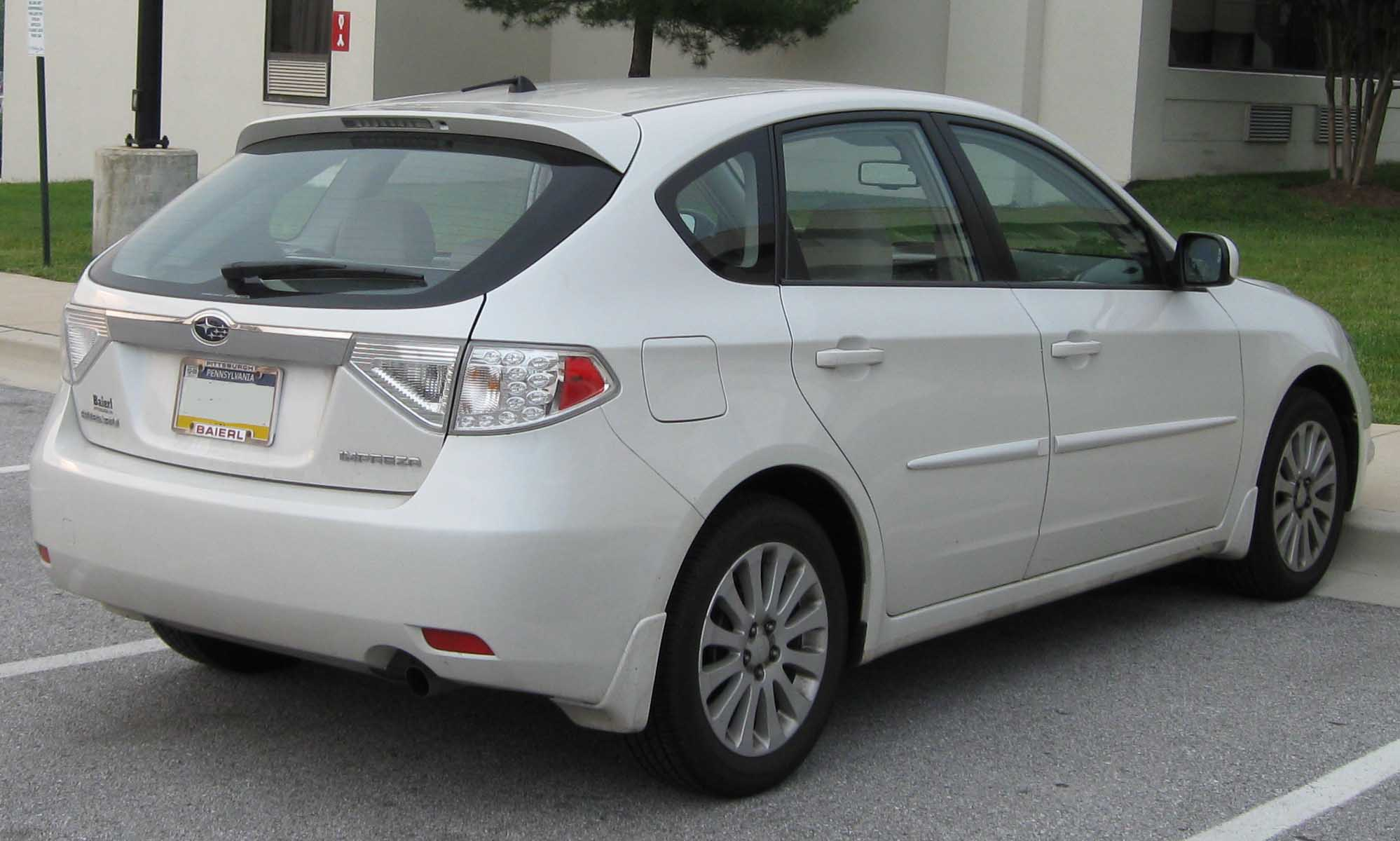 file:2008 subaru impreza 2.5i hatch rear - wikimedia commons