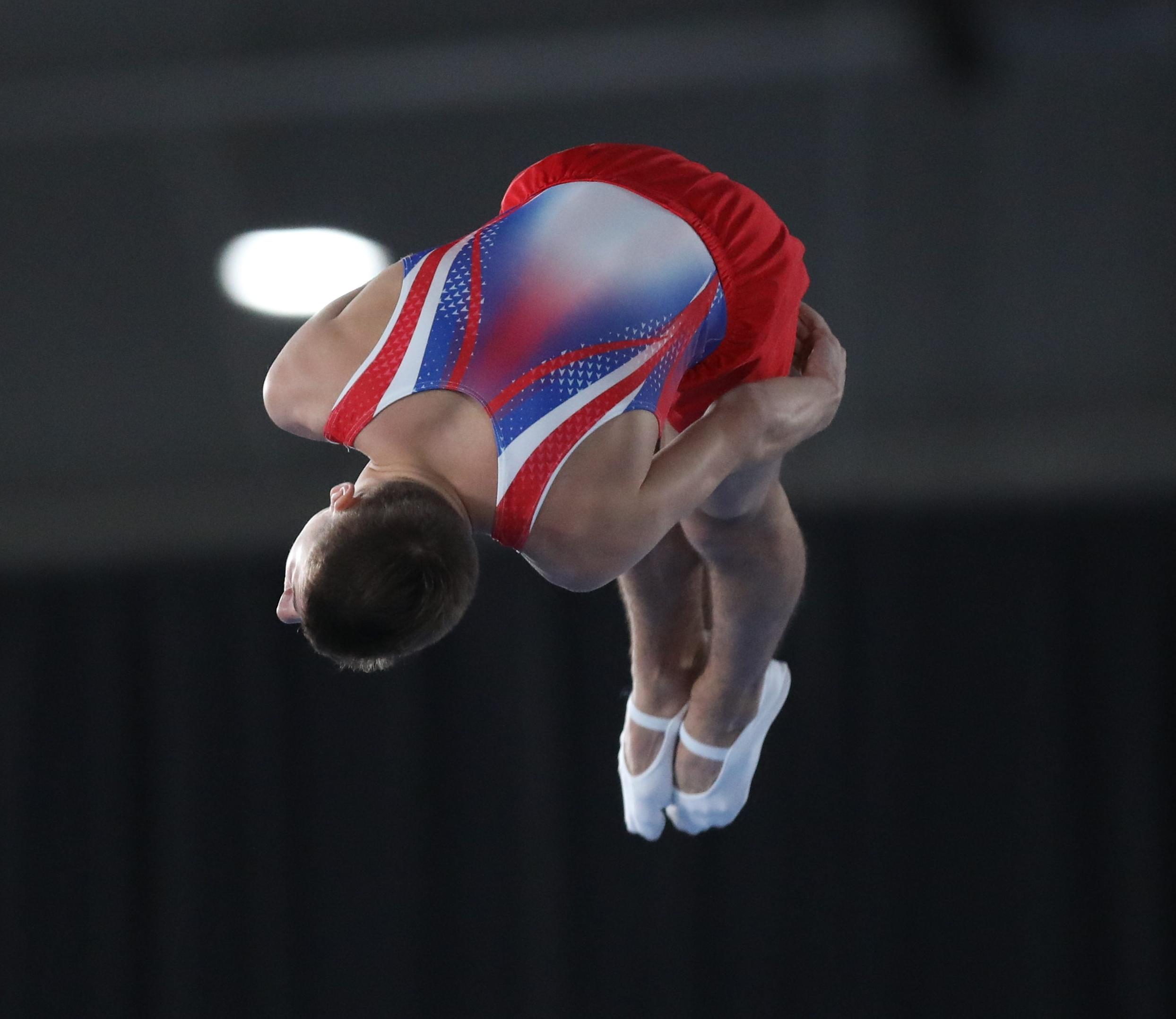 2018-10-14 Boys' Trampoline Gymnastics Final at 2018 Summer Youth Olympics by Sandro Halank-267.jpg Deutsch: Trampolinturnen männlich: Finale