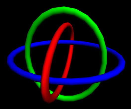 3D Borromean rings