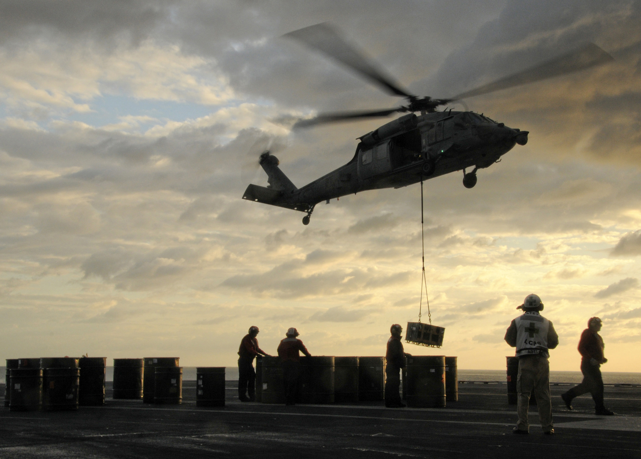 File:A U S  Navy MH-60S Seahawk helicopter with Helicopter