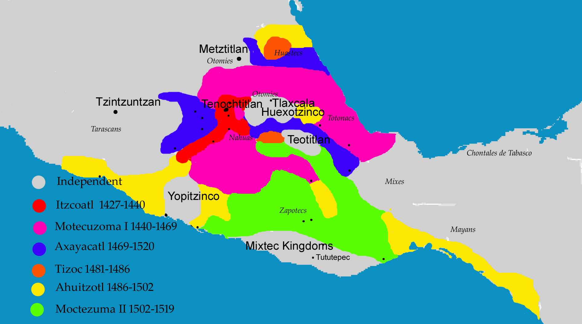 When did the aztec empire end