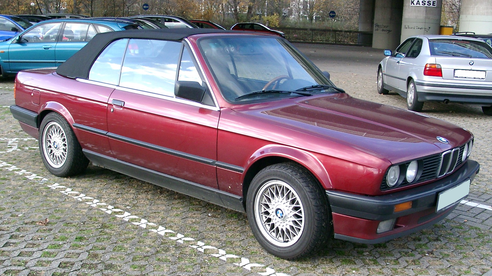 file bmw e30 cabrio front wikimedia commons. Black Bedroom Furniture Sets. Home Design Ideas