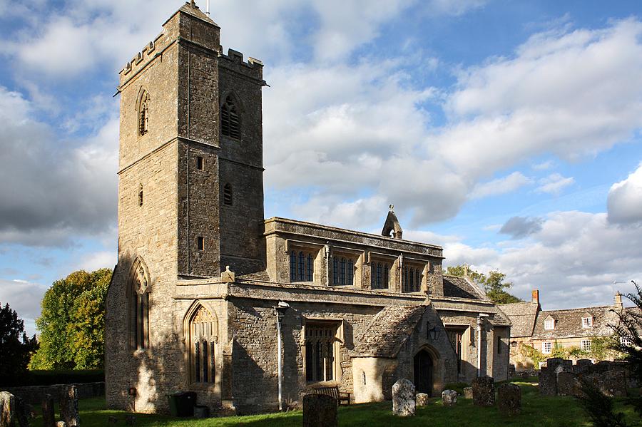 St Leonard's parish church, Bledington, Gloucestershire.