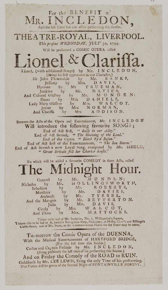 File:Bodleian Libraries, Playbill of Theatre Royal, Wednesday, July