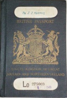 British old passport