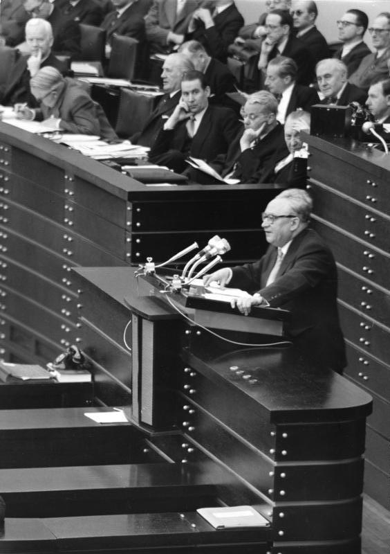 Erich Ollenhauer, Bonn 1954
