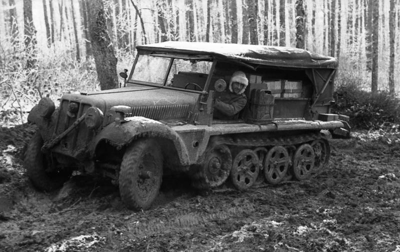 A German Sd.Kfz.10 in Russia