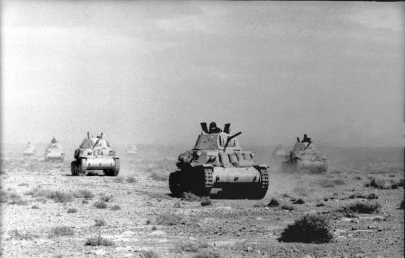 Italian Tanks Advance