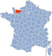 Situation du Calvados en France.