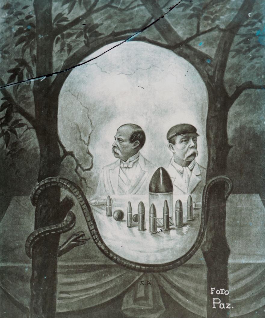Estrada Cabrera, political cartoon.