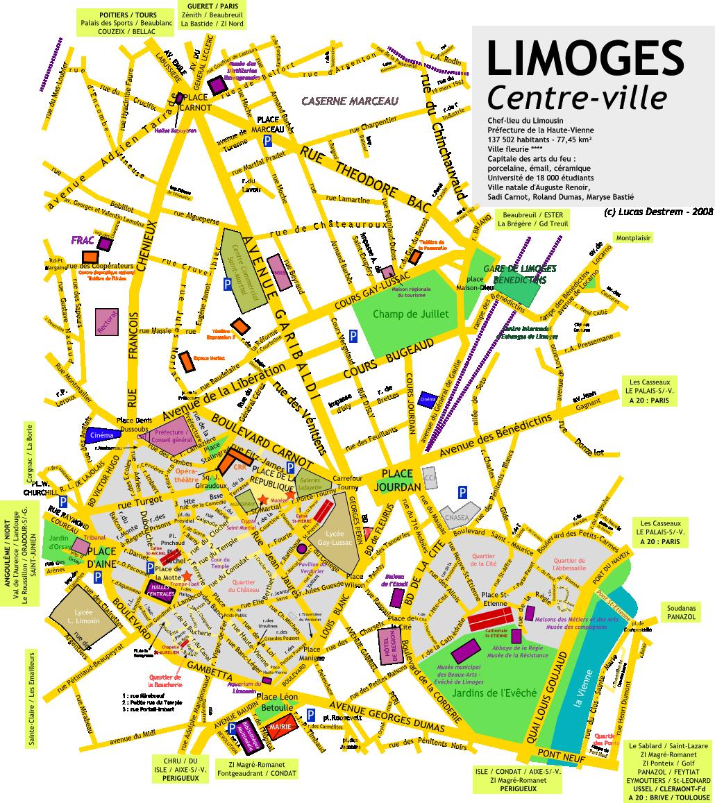 Plan Du Centre Ville De Barcelonne