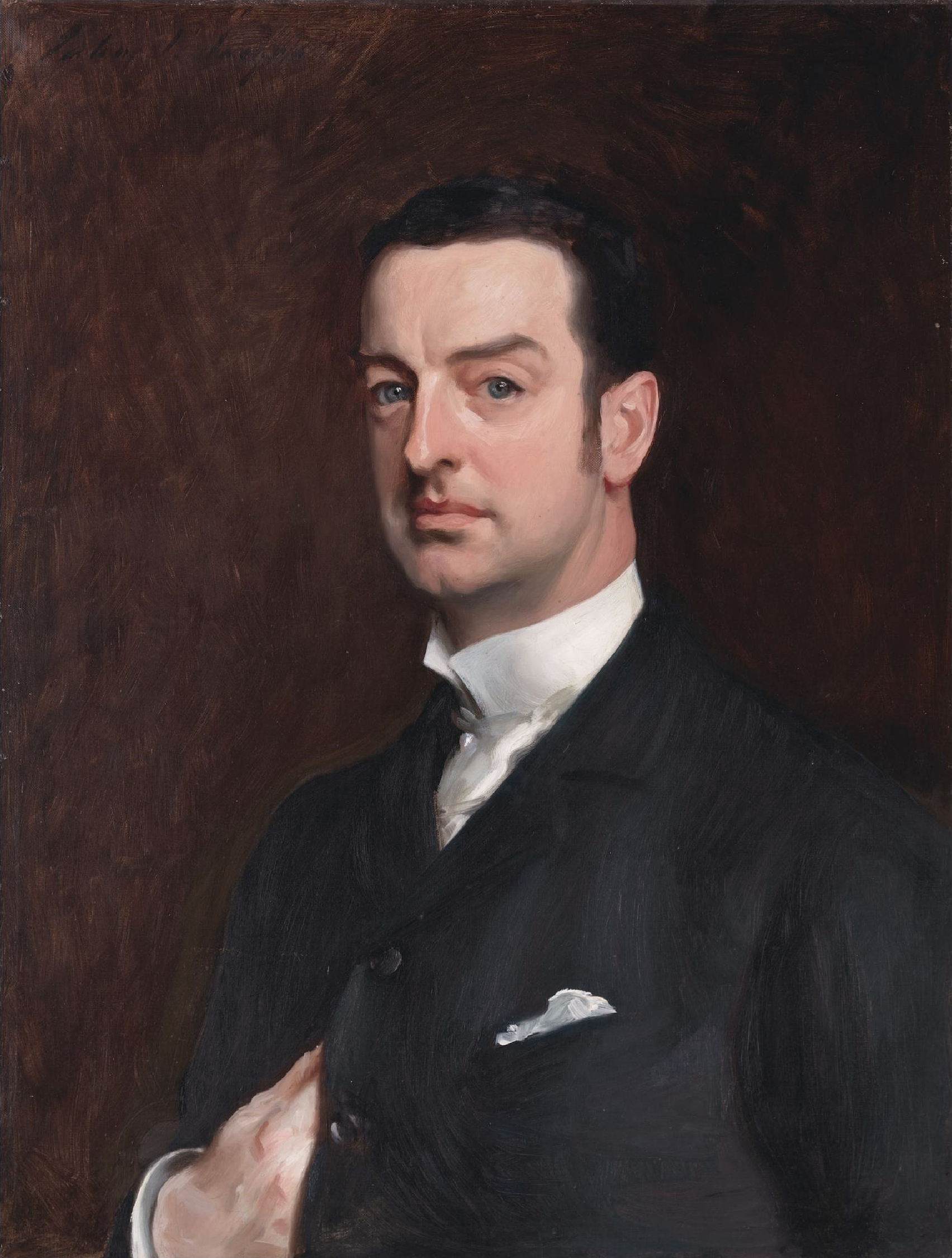 Description Cornelius Vanderbilt II by John Singer Sargent  1856-1925    Young Cornelius Vanderbilt