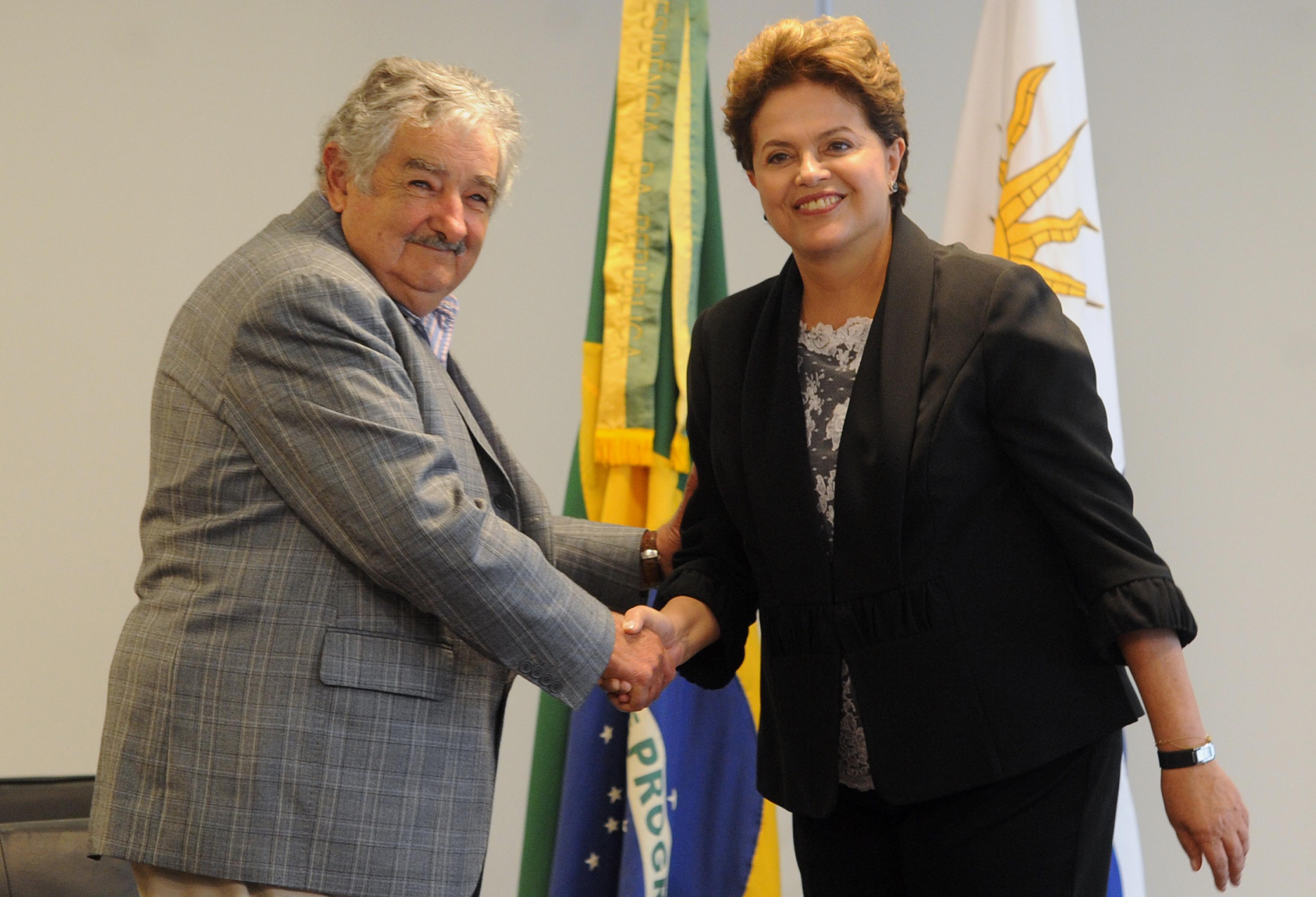 José Mujica with President of Brazil, Dilma Rouseff in 2011.