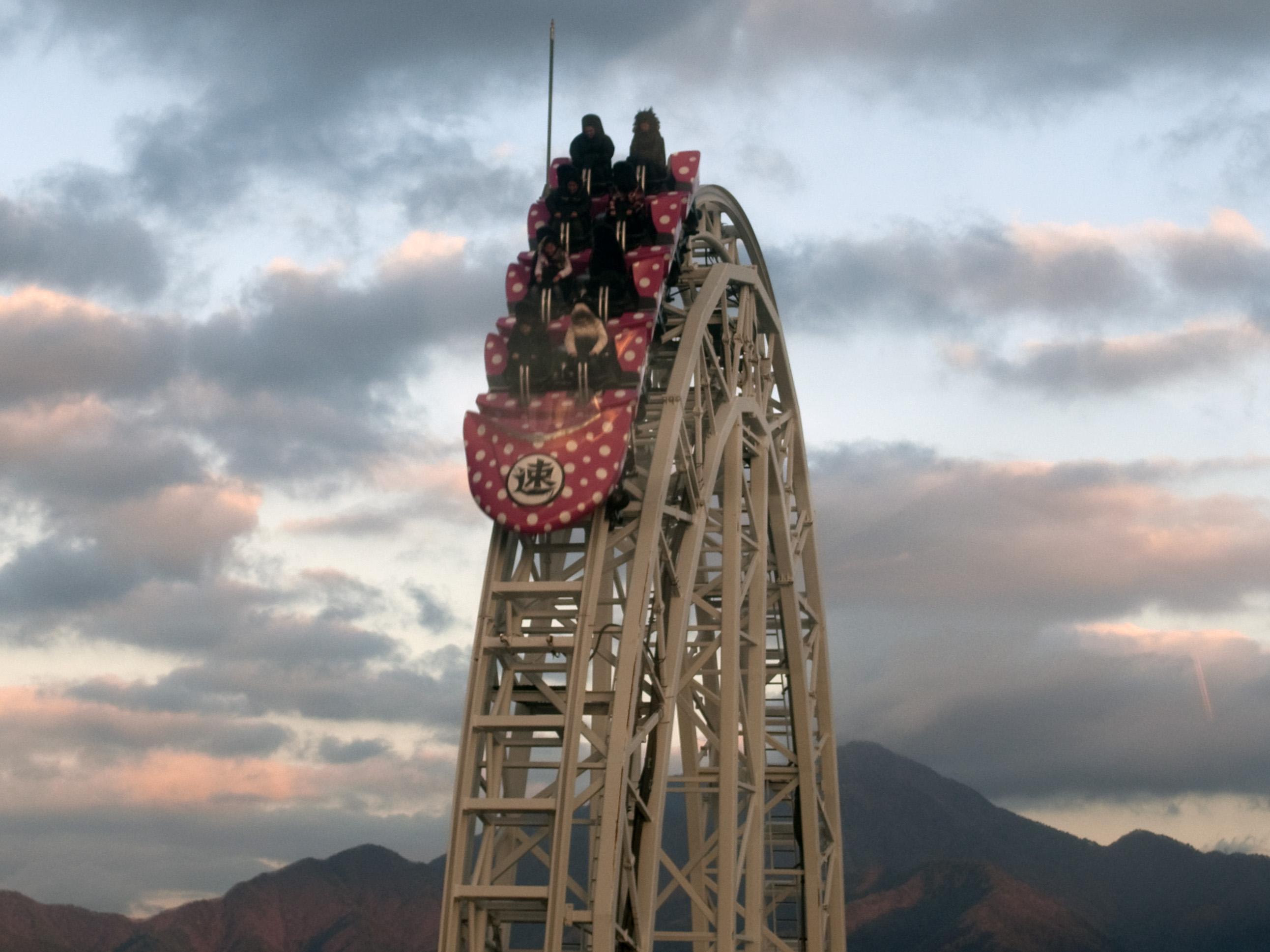 Dodonpa roller coaster in 2009