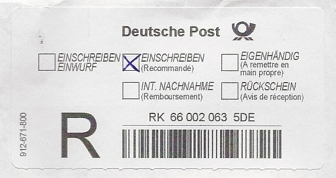 Maxibrief deutsche post