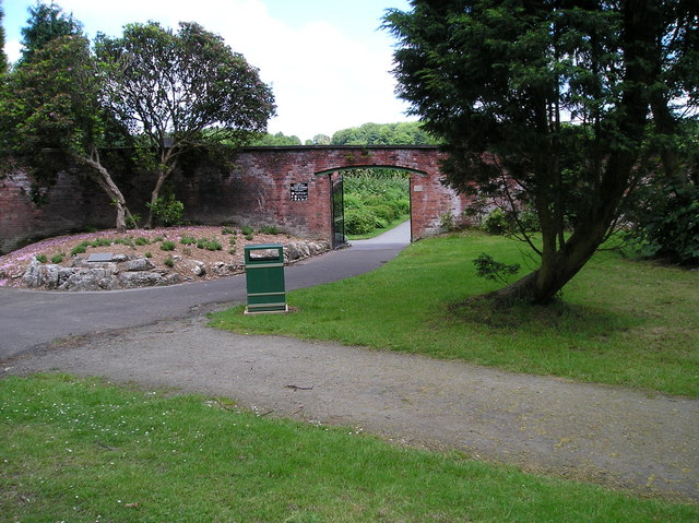 Entrance to Walled Garden at Haigh Hall - geograph.org.uk - 469494