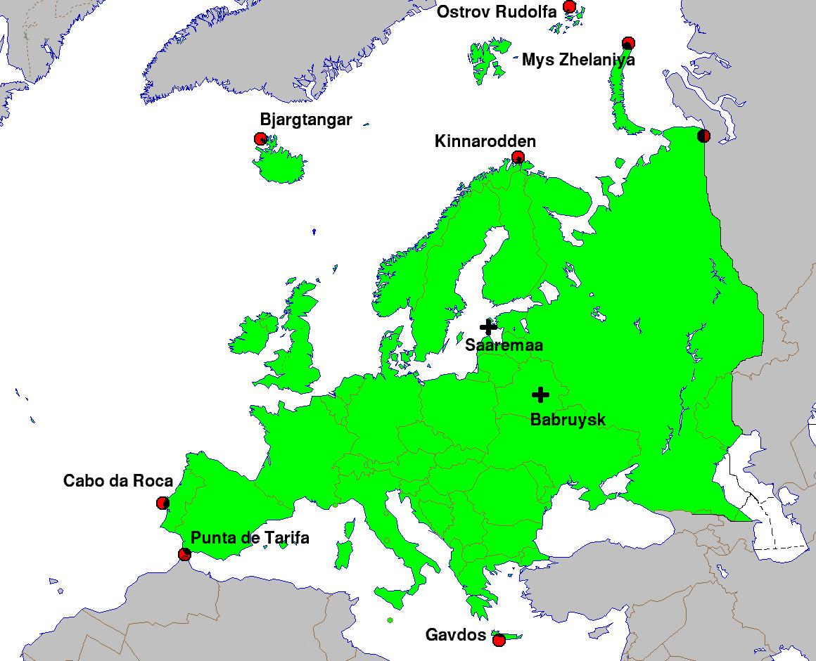 Krajnje Tacke Evrope Wikipedia