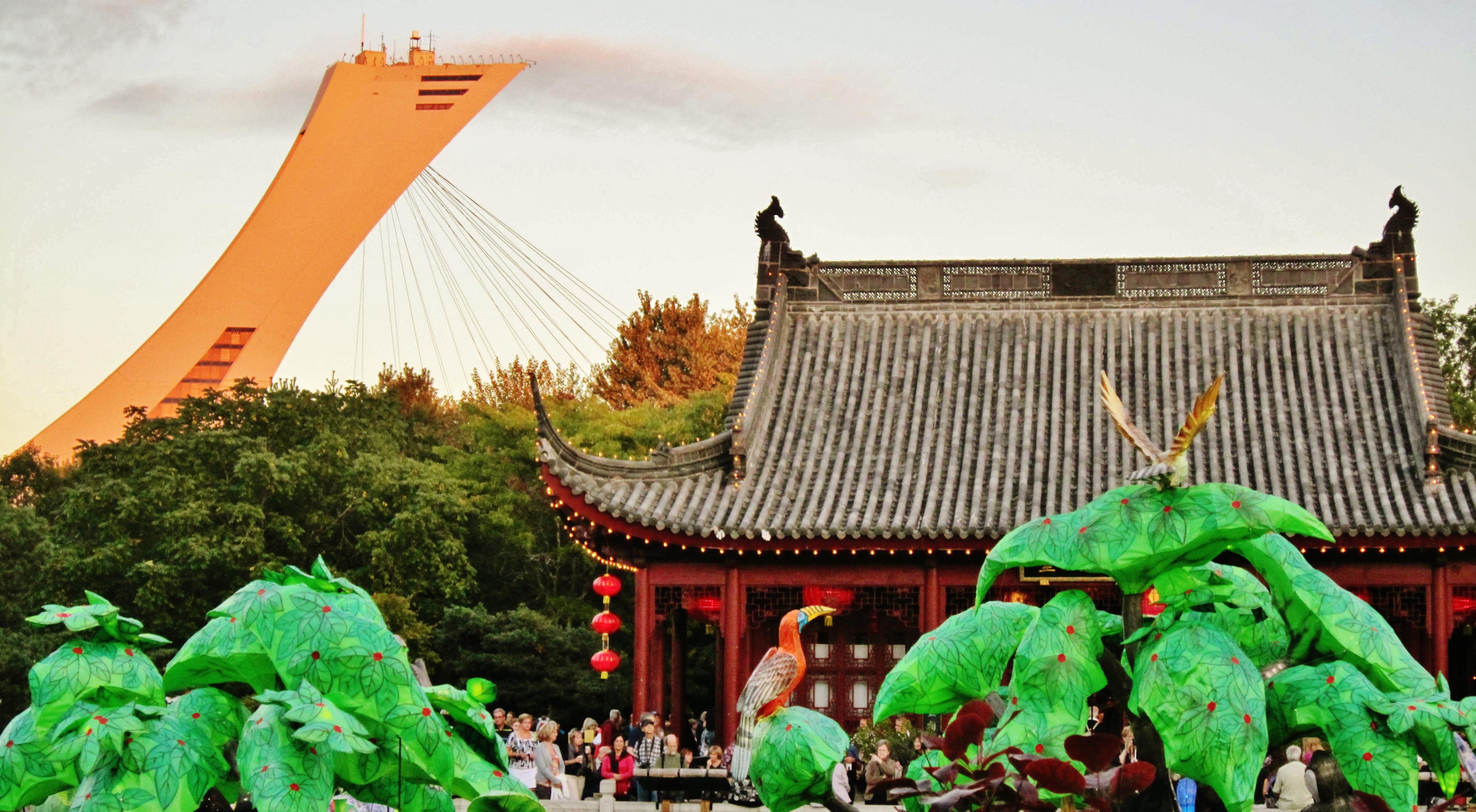 File Fin de journée sur le Jardin Chinois au Jardin Botanique