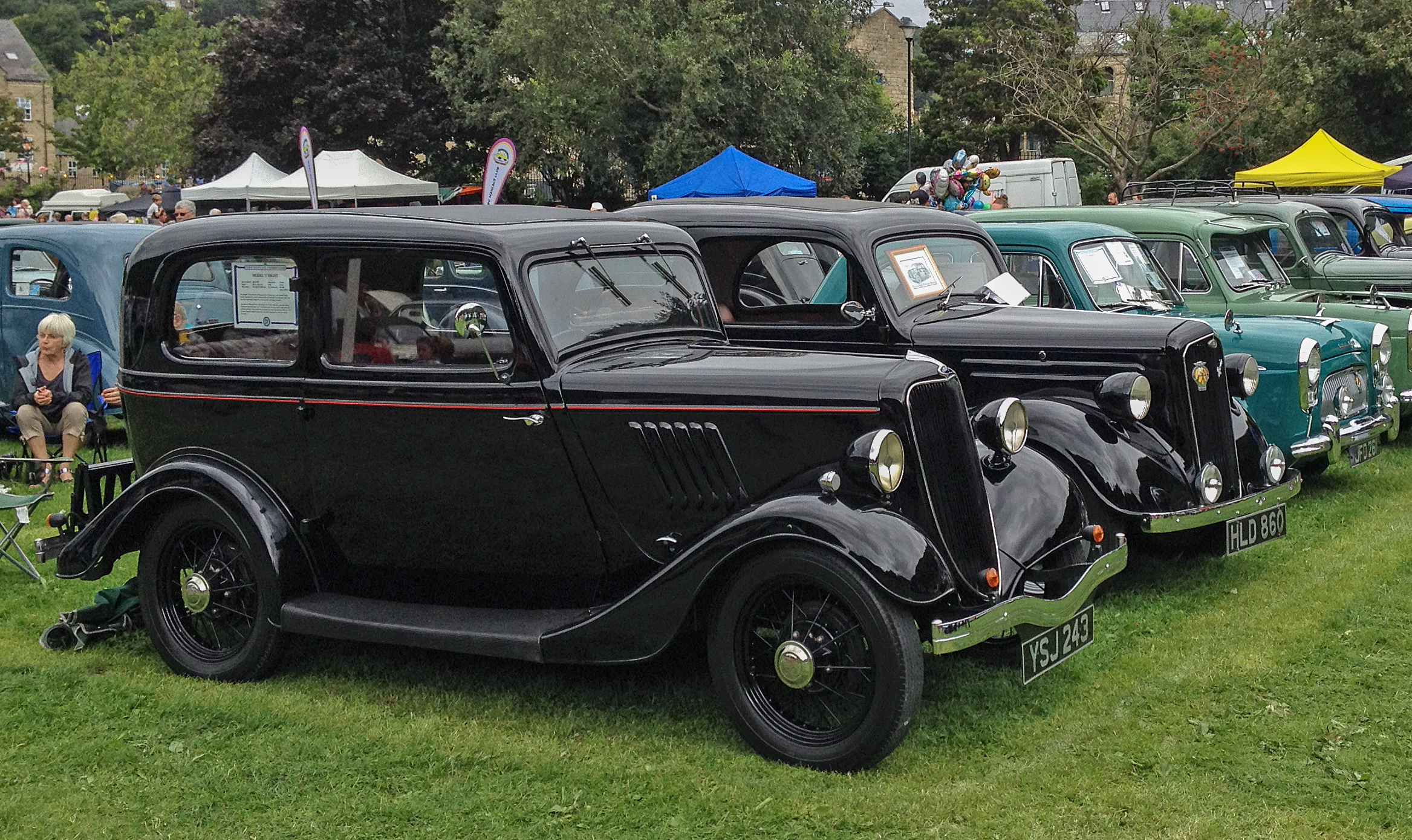 File:Ford Model Y (1935); Ford Anglia (1939); Ford Prefect ...