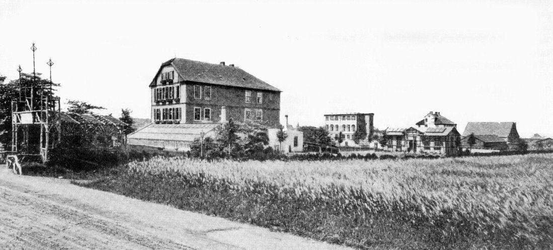 Das Gelände der Israelitischen Erziehungsanstalt um 1900