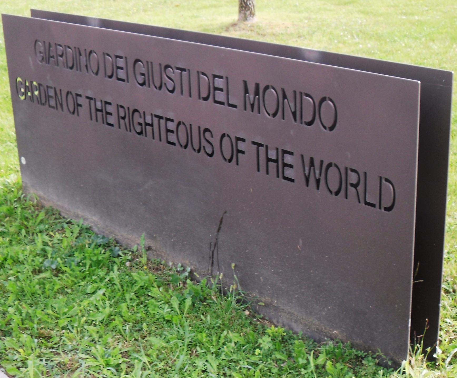 Giardino dei Giusti del Mondo - Wikipedia