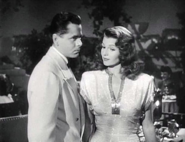 Glenn Ford caracteriza a un hombre dominado por los celos en el film Gilda, con Rita Hayworth.