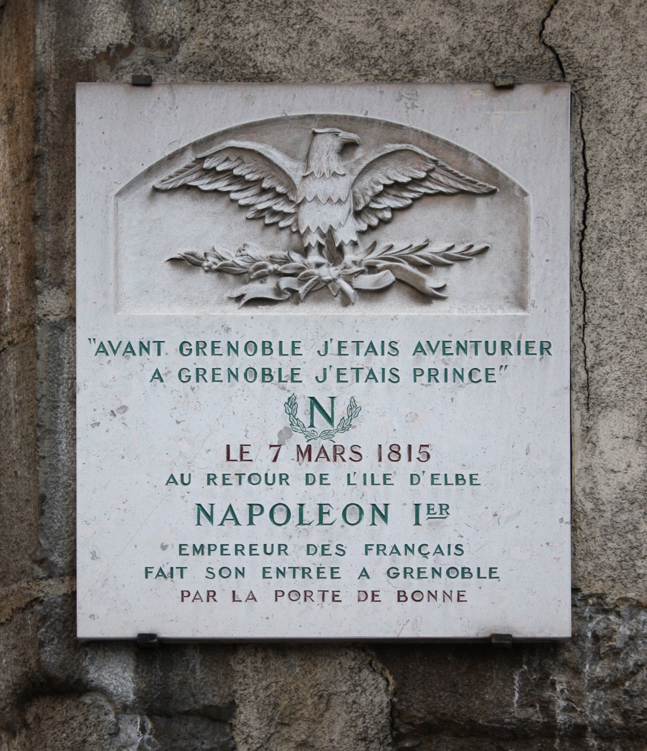 File grenoble plaque de la route napol on jpg wikimedia commons - Plaque de melamine a coller ...