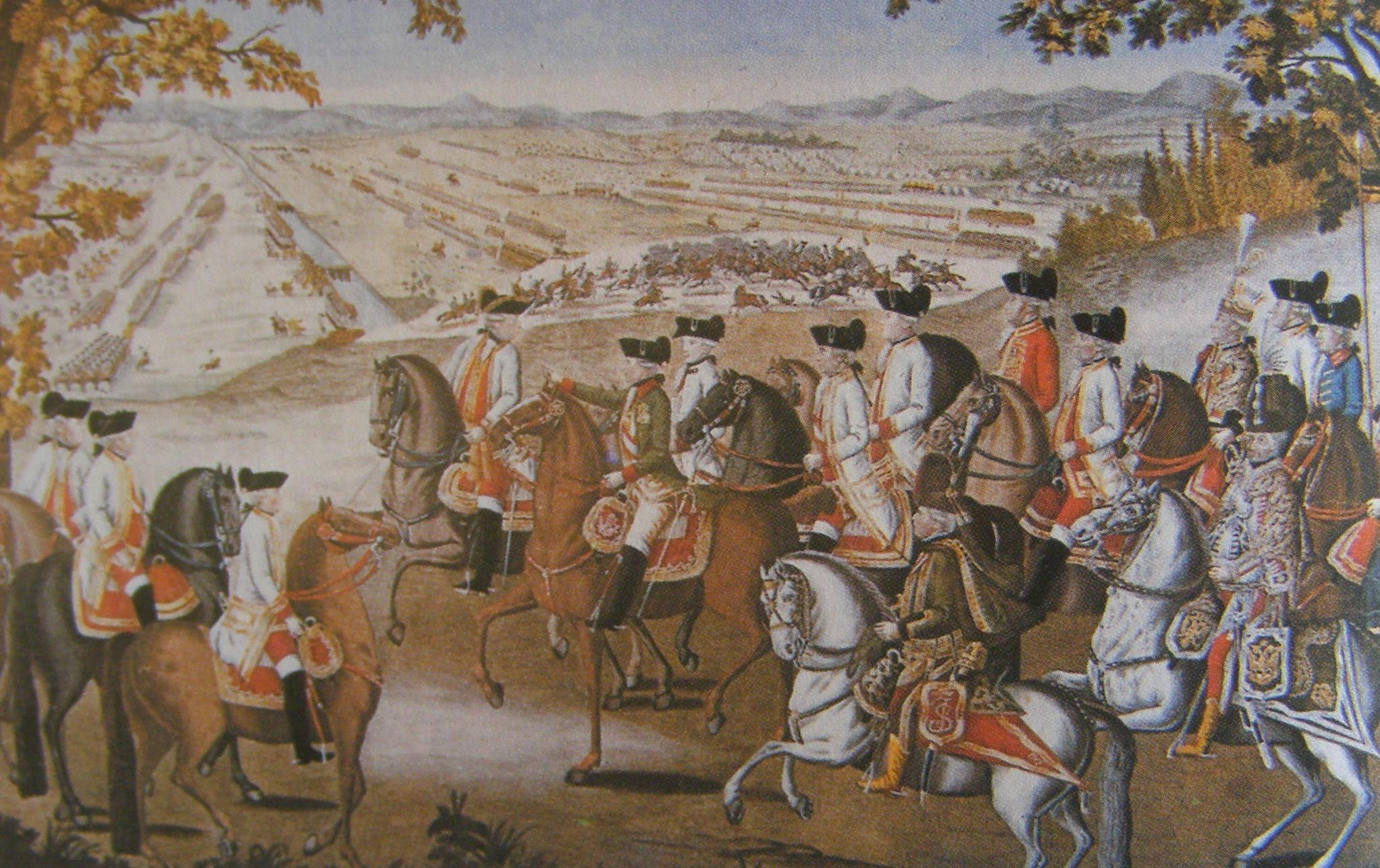 Joseph II, Emperor of Austria and his soldiers.