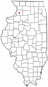 Location of Lyndon, Illinois