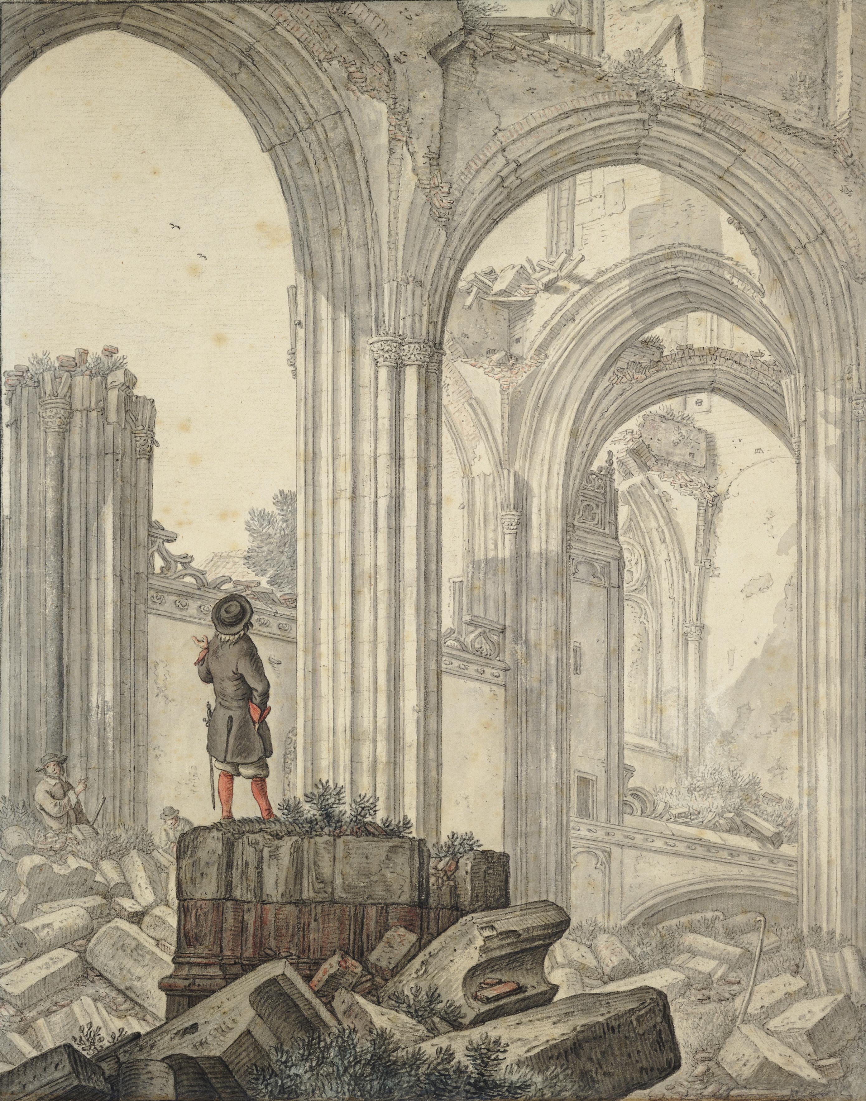 File interieur tekening van ruine van h saftleven for Interieur utrecht