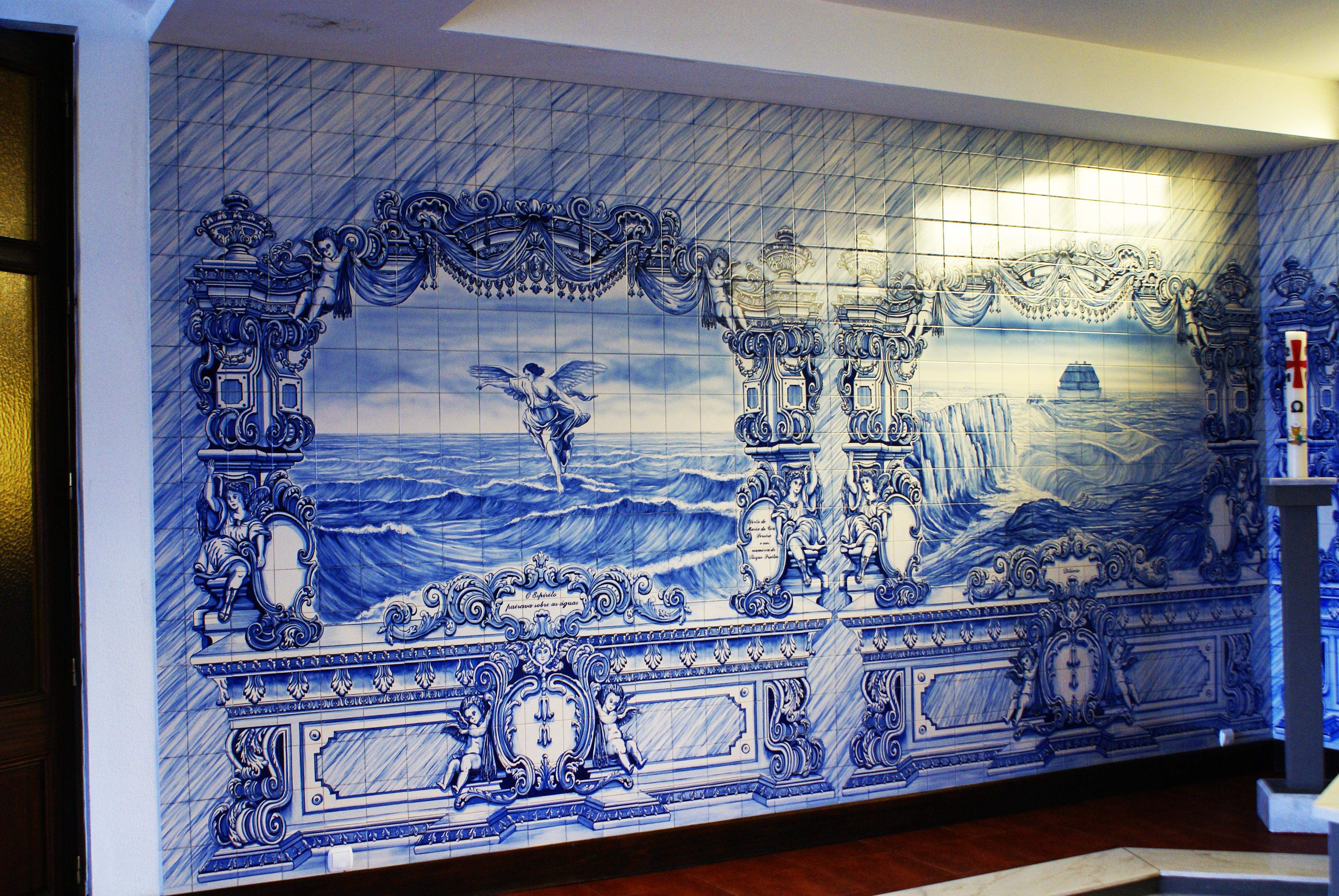 File igreja de santa b rbara cedros azulejos cedros for Azulejos de portugal