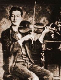 Juventino Rosas mentre suona il violino (circa 1890)