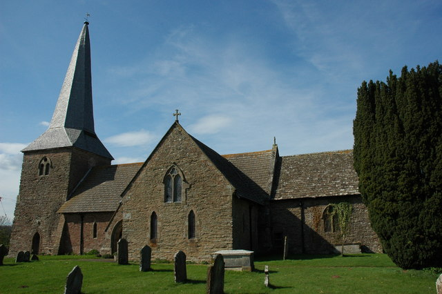 Photo of Nave and west tower of St James' parish church, Kimbolton, Herefordshire