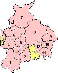 Location of Lancashire