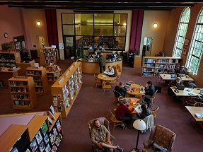 The Main floor of the Sausalito Library