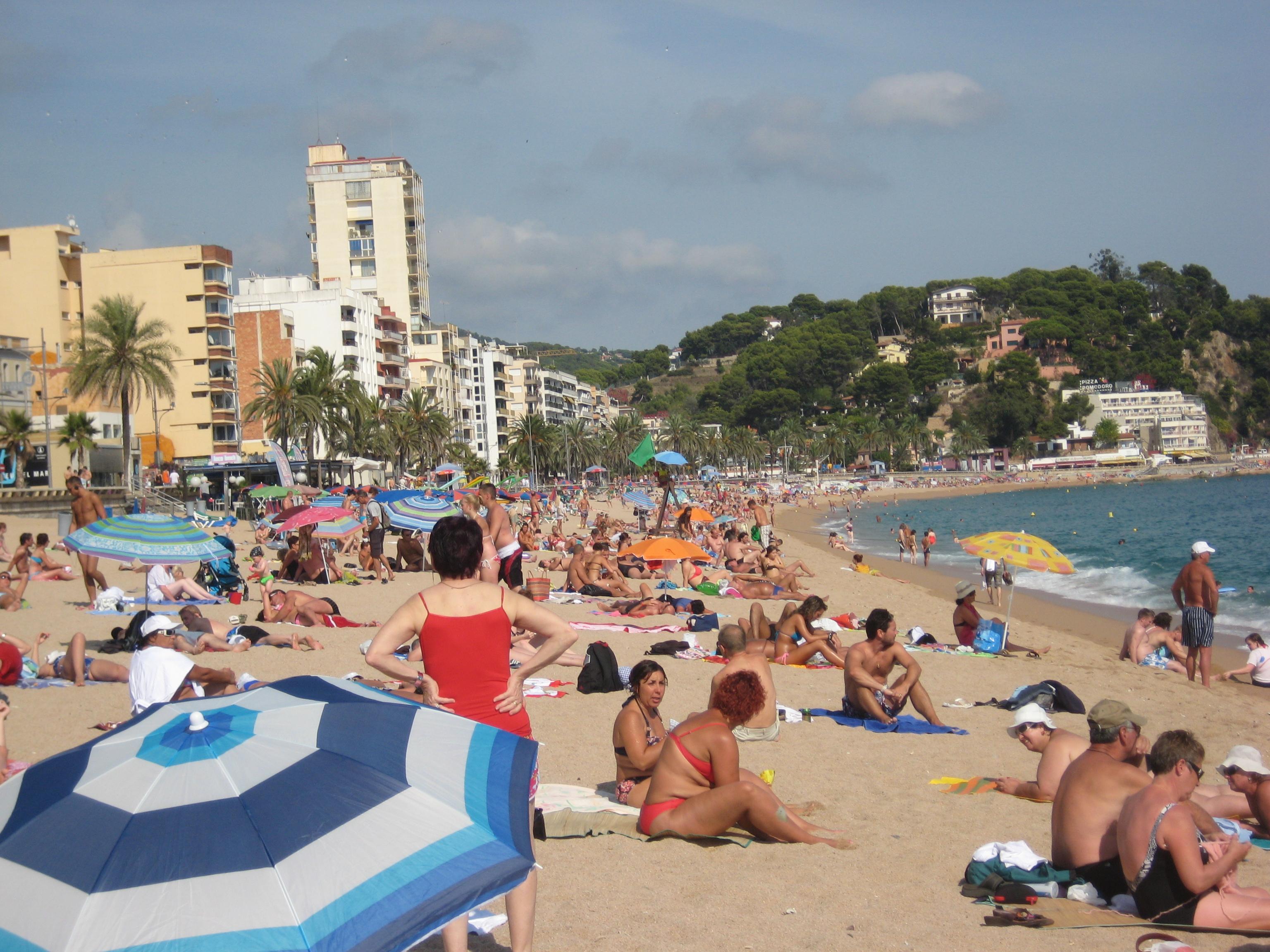 File Lloret De Mar Beach Costa Brava Spain Jpg