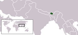 Location of Bhutan