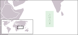 The location of the Maldives