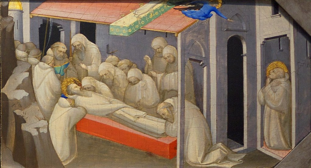 Lorenzo Monaco, The Death of Saint Benedict. 1409, London NG.jpg
