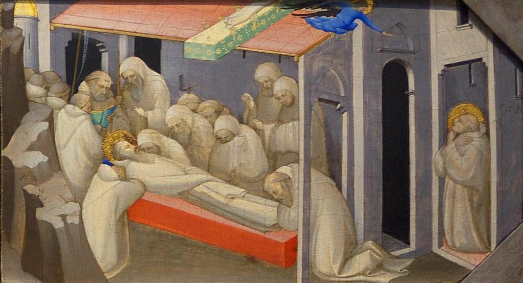 Lorenzo Monaco, The Death of Saint Benedict. 1409, London NG.jpg